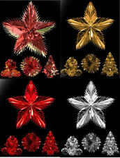 Foil Christmas Hanging Decorations Red & Gold 2 tone Colour - Tree or Ball