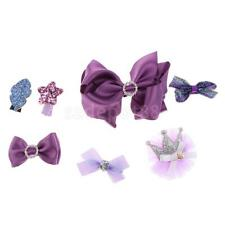 7 Pieces Infant Baby Girls Hair Bows Clips Hairpin Barrettes