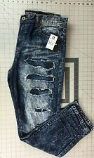 Mens Southpole Sand B Denim Pants Slim Straight Fit Jeans Destroyed  32x32 34x30