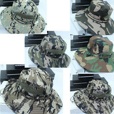 Bucket Hat Boonie Hunting Fishing Outdoor Cap - Wide Brim Military Boonie Hat