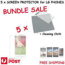 5 x LCD Screen Protector Protection Clear for LG Optimus Series G2 G3 L3 L5 L7