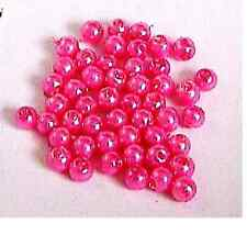 Shades of Pink 4mm Round Glass Pearl Beads 50 pcs Jewellery Making Crafts