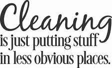 CLEANING IS definition fun vinyl wall art sticker saying home decor words decal