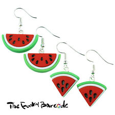 TFB - TROPICAL WATERMELON DANGLE EARRINGS QUIRKY NOVELTY GIRLS GIFT FUNKY SUMMER