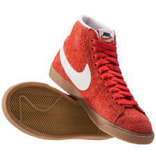 Nike Blazer Mid Vintage Womens Trainers Orange White Branded Footwear