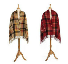 Women Woven Cashmere Feel Plaid Scarf Poncho One size Different colours