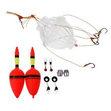 Pro Fishing Tackle Bobber Set Sea Box Hooks Monsters with 6 Strong Fishing Hooks