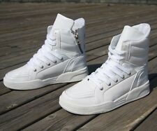 Mens High-top LACE UP Sneaker Shoes TRAINERS Skateboard Shoes Boots UK Size New