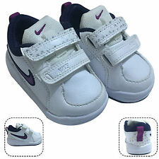 Nike Pico 4 Toddler Infants Kids White Straps Leather Trainers Shoes New Boxed