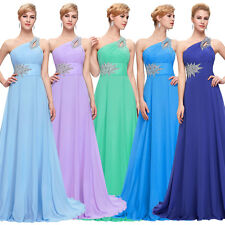 One Shoulder Sexy Beaded Long Formal Dress Evening Maxi Bridesmaid Party Prom#US