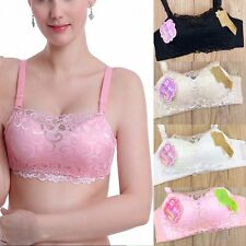Sexy Women Breathable Bra Thin Padded Underwire Plunge Bra Push Up Lace Floral
