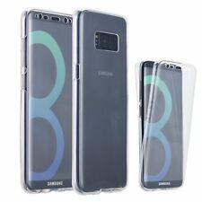 360° Front and Back Clear Full protection Gel Skin Case Cover For SAMSUNG MOBILE
