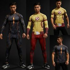 Cosplay Costume Flash Compression 3D Printed T-shirts Mens Long Sleeve Fitness