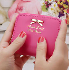 Womens Casual Mini Purse Small Wallet Zip Coin Card Holders Handbag Clutch Gift