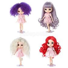 Fantasy Full Wig Hairpiece Curly Hair for 12'' Blythe Doll DIY Making & Repair