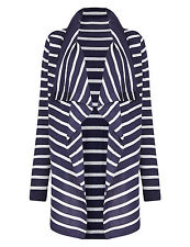 New M&S Collection Maternity Navy Blue & White Striped Cardigan Sz UK 14
