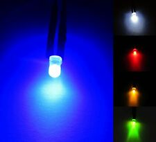3mm 12V Diffused LED Diode Pre-Wired 20cm Cable Emitting Light Clear + HOLDER