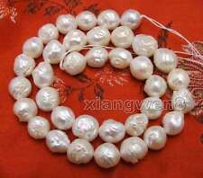 """SALE 9 to 10mm White Round Natural Edison PEARL Loose beads strands 14"""" -los750"""