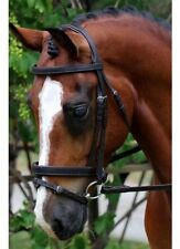Flexible Fit Gel Padded English Leather Bridle