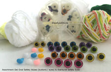 Safety Eyes & Noses Asst. Gift Set Sew Crochet Amigurumi STBEON