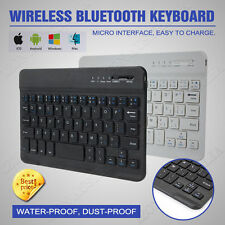 New Aluminum Ultrathin Wireless Bluetooth Keyboard For iPad Android Tablet AU