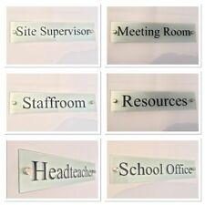 School Signs - Business signs - Modern Glass Acrylic Plaques - Office Door Signs