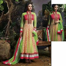 ANARKALI DESIGNER SALWAR KAMEEZ ETHNIC PAKISTANI SUIT BOLLYWOOD INDIAN SALWAR