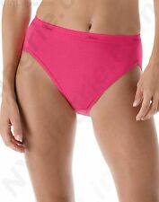 24 PACK ~ Hanes Womens Assorted Color HI-CUTS Underwear 100% Cotton Panty Briefs