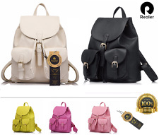 Women's Leather Fashion Backpack Travel Bag Hand Bag School Rucksack satchel