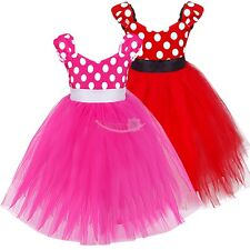 Girls Baby Toddler Minnie Bowknot Polka Dot Cosplay Party Princess Tutu Dress