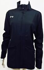 Under Armour Women's Pre-Game Woven Full Zip Jacket, Black, Size Large