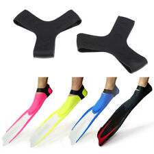2Pcs Scuba Diving Snorkeling Silicone Fin Keepers Holder/ Gripper Strap Set