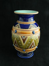 Antique 19th century French Sarreguemines majolica pottery vase