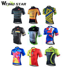 WEIMOSTAR Men Cycling Jersey T-Shirt Team Clothing Bike Short Sleeve  Jersey Top