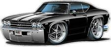 1969 Chevelle SS 396 L-78 Cartoon Car Wall Decal Sticker Cling Graphic FREE SHIP