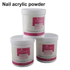120g Acrylic Crystal Powder Nail Tips Polymer Pink Clear White Art Decoration