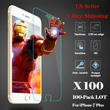 HOT 100x Wholesale Tempered Glass HD Screen Protector Film for iPhone 7 Plus