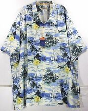 NWT Tommy Bahama Naples Sails Call Camp-Bright Cobalt 100% Silk Camp Shirt $138