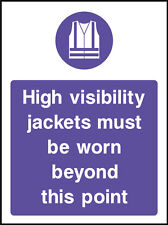 High Visibility Jackets Sign