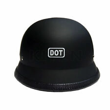 DOT Approved German Style Motorcycle Helmet Touring Cruiser Scooter Half Helmet
