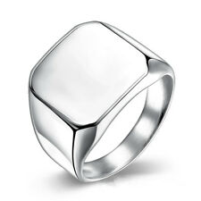 High School Biker 316L Stainless Steel Square Ring Mens Weedding Cool Size 7-10