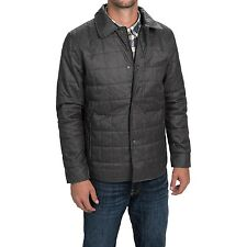 Tahari Men's Lightweight Quilted Shirt Jacket Gray or Brown NWT L or XL $225