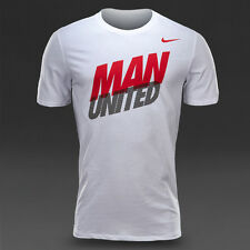 $30 Nike Manchester United MANU Core Type T-Shirt White Tee S L 2XL 652204-100