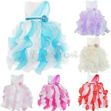 Flower Girl Party Prom Xmas Wedding Bridesmaid Princess Tulle Tiered Dress 2-8T