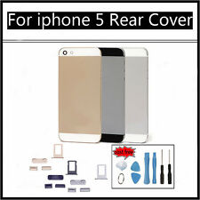ORIGINAL iPHONE 5 5G BACK REAR COVER ALLOY METAL REPLACEMENT BLACK/Silver/Gold