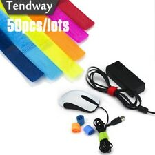 50pcs/lot Colored Cable Winder Wire Organizer Cable Earphone Holder Cord Managem