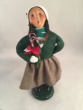 Byers Choice Caroler - 2001 Traditional Girl w/ Candy Canes - Signed!