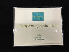 "WDCC Disney Certificate of Authenticity ""Simba"" The Lion King"