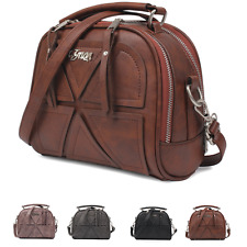 Vintage Retro womens lady handbag Leather purse tote shoulder bag Messenger Bags