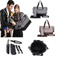 New Waterproof Mummy Tote Handbag Baby Diaper Nappy Changing Bag Changing Mat